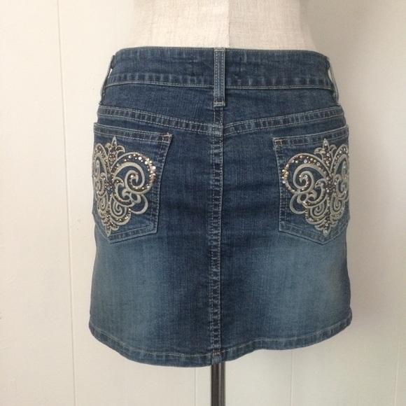 Goodtime Dresses & Skirts - Fleurdelis Embellished Mini Skirt